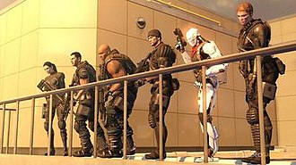 """Binary Domain - The Rust Crew team in Japan, operating under the codename """"Beetle"""". From left to right: Faye, Dan, Big Bo, Charles, Cain and Rachel"""