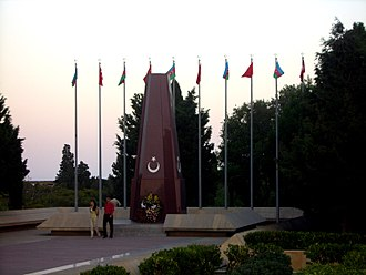 Azerbaijan Democratic Republic - Memorial to the Turkish soldiers killed in the Battle of Baku (1918).