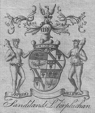 Lord Torphichen - The 1764 coat of arms of Walter Sandilands, Lord Torphichen.