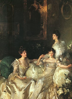 Hugo Charteris, 11th Earl of Wemyss - The Wyndham Sisters, by John Singer Sargent, 1899 (Metropolitan Museum)