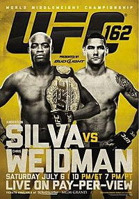 A poster or logo for UFC 162: Silva vs Weidman.