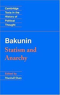 <i>Statism and Anarchy</i> book by Mikhail Bakunin