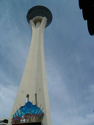 Stratosphere Las Vegas - Image: Stratosphere view from ground level