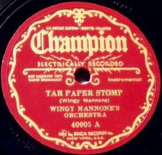 Tar Paper Stomp - Image: Tar Paper Stomp Champion 1935 Wingy Manone