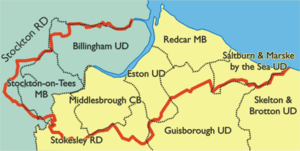 County Borough of Teesside - Image: Teesside comm