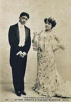 Ada Blanche - with Tom Terriss in The Medal and the Maid, 1903