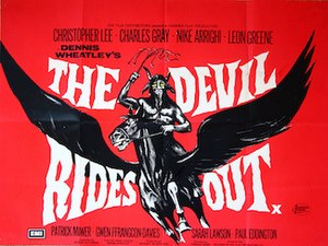 The Devil Rides Out (film) - Theatrical release poster.