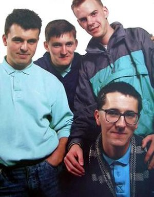 From left: Dave Hemingway, Paul Heaton, Norman...