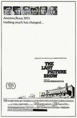 The Last Picture Show - Theatrical release poster by Richard Amsel