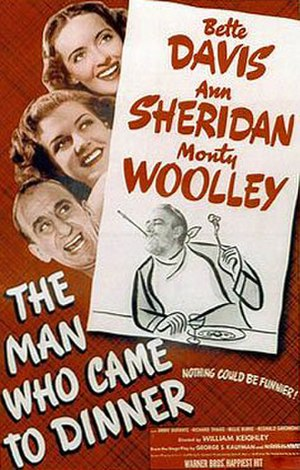 The Man Who Came to Dinner (film) - theatrical release poster