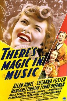 Theres Magic In Music Poster
