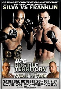 A poster or logo for UFC 77: Hostile Territory.