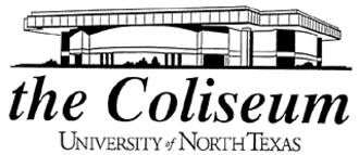 UNT Coliseum - Image: University of North Texas Coliseum Logo