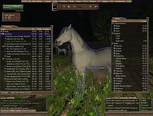 Wurm Online - An example of the user interface for Wurm Online in 2012