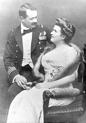 Georg von Trapp - Lieutenant Georg von Trapp and Agathe Whitehead about 1910