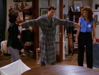 Grace, Replaced - Scene where Will (Eric McCormack) separates the fight between Grace (Debra Messing) and Val (Molly Shannon).