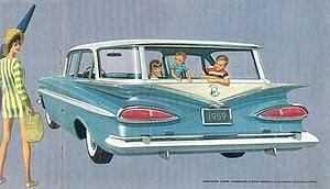 Chevrolet Kingswood - Image: 1959 Chevrolet Kingswood (rear)