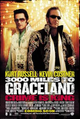 3000 Miles to Graceland - Theatrical release poster