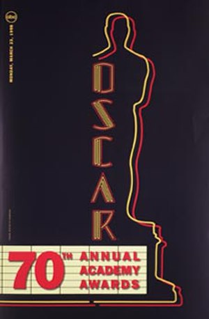 70th Academy Awards - Official poster