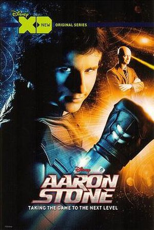 Aaron Stone - Promotional poster with Kelly Blatz as Aaron Stone and J. P. Manoux as S.T.A.N.