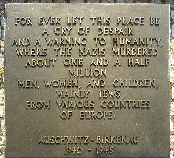 File:Auschwitz-Birkenau memorial text.JPG