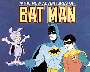 Bat-Mite - Bat-Mite, Batman, and Robin from The New Adventures of Batman.