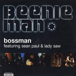 Bossman (song) - Image: Beenie Man Bossman single cover art