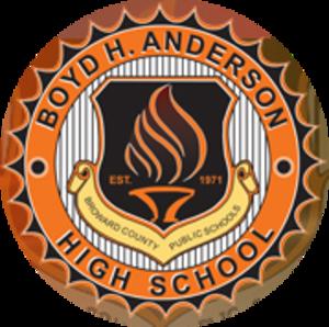 Boyd H. Anderson High School - Boyd H Anderson High School Crest