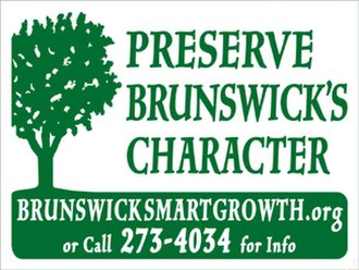 Brunswick, New York - Lawn signs used to promote Brunswick Smart Growth
