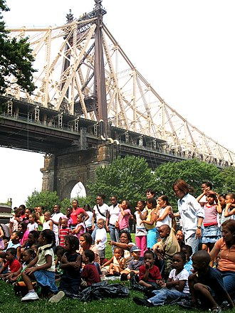 City Parks Foundation - Queensbridge Park gathering