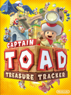 Captain Toad: Treasure Tracker - Packaging artwork in North America