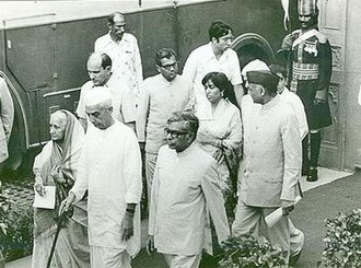 Jat people - Chaudhary Charan Singh, the first Jat Prime Minister of India, accompanied by his wife, on his way to address the nation at the Red Fort, Delhi, Independence Day, 15 August 1979.