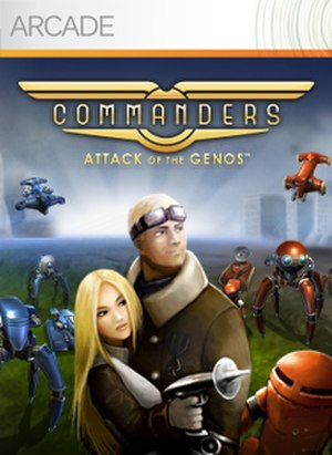 Commanders: Attack of the Genos - Image: Commanderscover