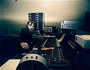 Conny Plank - Conny Plank at the Windrose studio, Hamburg.