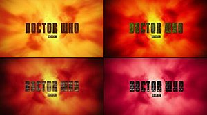 "Doctor Who (series 7) - The redesigned Doctor Who title card for the first part of series 7 removed the ""DW"" insignia and featured a different look for each episode."