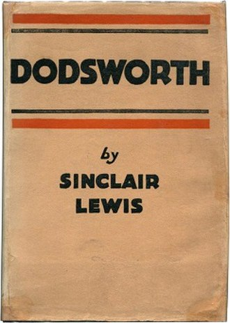Dodsworth (novel) - First edition cover