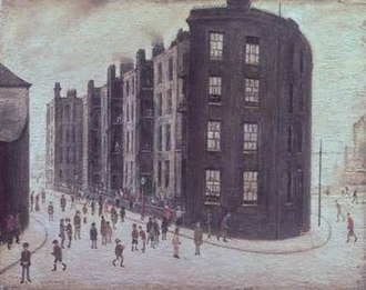 1927 in art - Image: Dwelling, Ordsall Lane, Salford (by LS Lowry)
