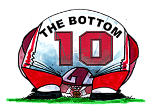 "Bottom 10 - ESPN publishes the ""Bottom 10"" worst college football teams weekly during the regular season."