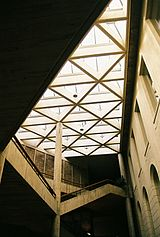 Interior skylights in the main building
