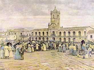 Cornelio Saavedra - The people gathered in front of the Buenos Aires Cabildo
