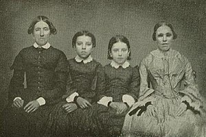 Fanny Crosby - (l to r) Mercy, Julia, and Caroline Morris and Fanny Crosby