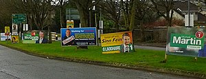 Irish general election, 2016 - Election posters in Cork South-Central