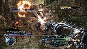 Final Fantasy XIII-2 - Image: Final Fantasy XIII 2 gameplay