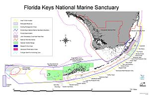 Florida Keys National Marine Sanctuary - Image: Fknms map big
