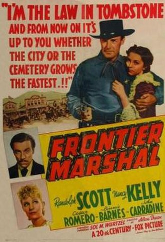 Frontier Marshal (1939 film) - Image: Frontier Marshal Film Poster
