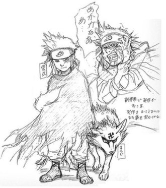 Gaara - Early designs for Gaara when he was known as Kumomaru.