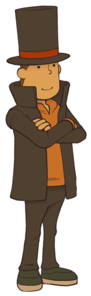 Professor Hershel Layton - Professor Hershel Layton as he appears in Professor Layton and the Miracle Mask.