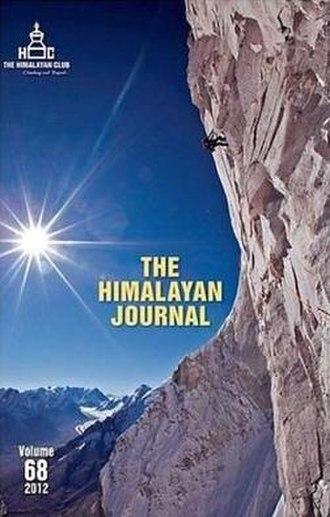 Himalayan Journal - Image: Himalayan journal cover vol 68 2012