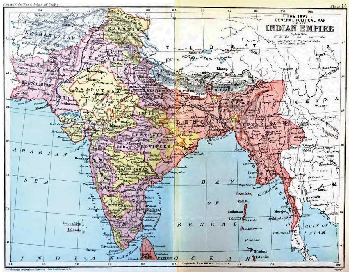 Image result for india before british rule map