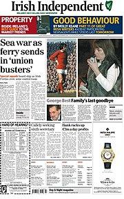 Flugfolioversio de la irlandanoj Sendependa, 24 novembro 2005